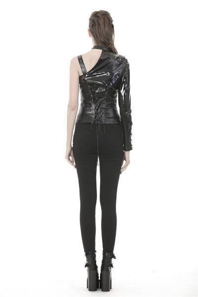Midnight PU Leather Bolero Jacket by Dark In Love