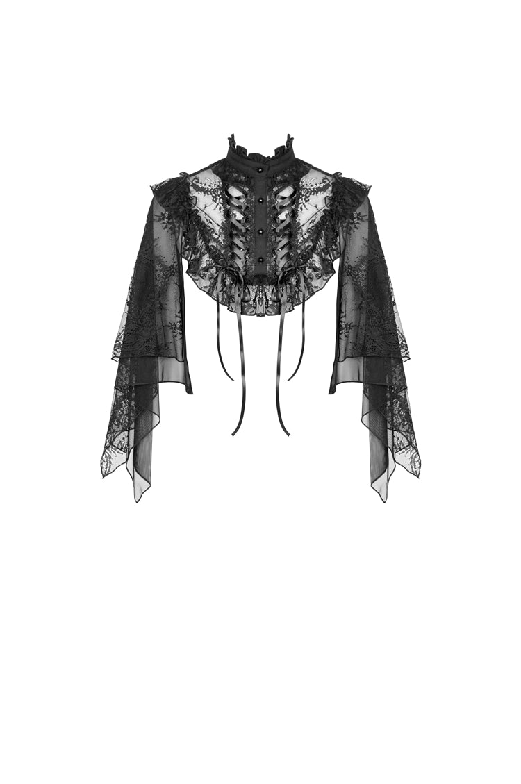 My Condolences Lace Capelet by Dark In Love