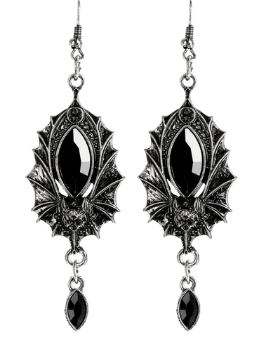Gothic Bat Earrings by Restyle