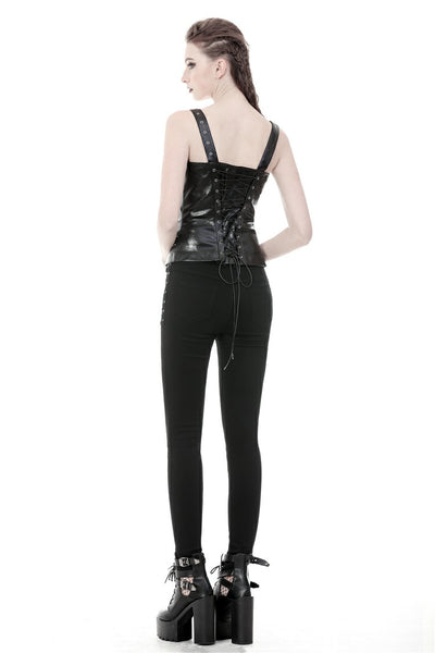 Frankie Faux Leather Corset Top by Dark In Love