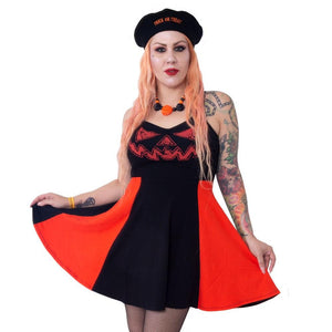 Jack-O-Lantern Pumpkin Pinafore Dress by Kreepsville 666