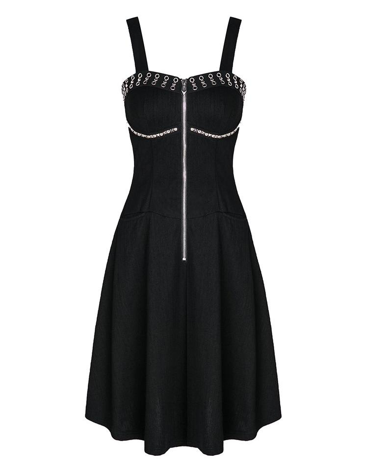 Studs & Eyelets Zipper Dress by Dark In Love