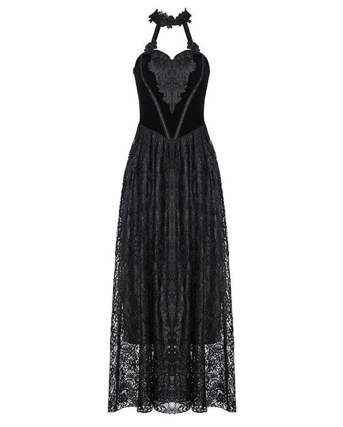 Gothic Floral Velvet Dress by Dark In Love