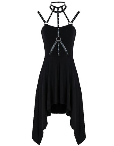 Rivets & Eyelets Harness Dress by Dark In Love