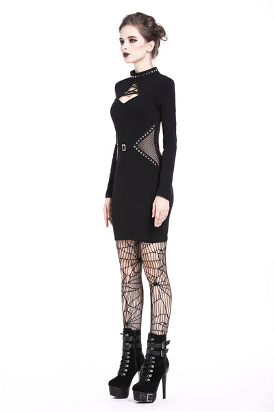 Mesh Cut Out Bodycon Dress by Dark In Love