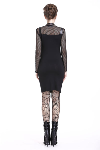 Punk Studded Fishnet Dress by Dark In Love
