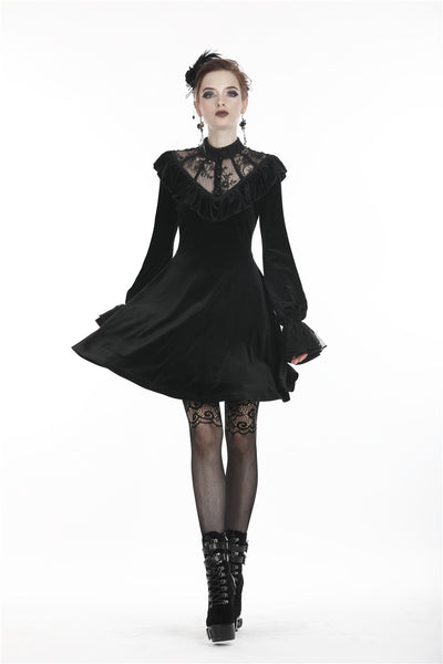 Good Mourning Velvet Dress by Dark In Love