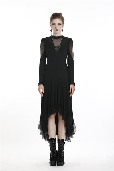 Grim Ruffle Dress by Dark In Love