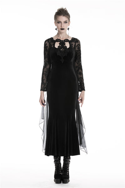 Gothic Royal Velvet Dress by Dark In Love
