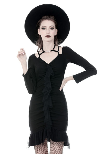 Ebony Ruffle Dress by Dark In Love