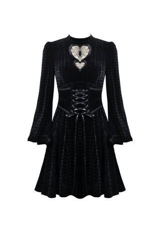 Tainted Heart Velvet Dress by Dark In Love