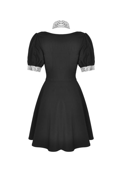 Skull Lace Dolly Dress by Dark In Love