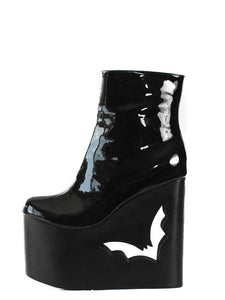 Deadwood Patent Wedge Boot by Charla Tedrick