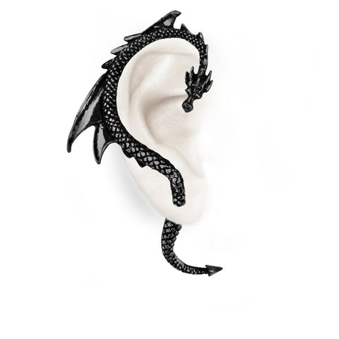 The Black Dragon's Lure Ear-Wrap by Alchemy Gothic
