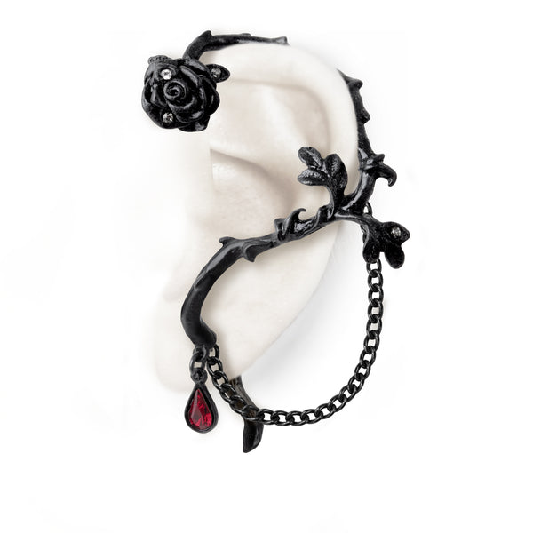Rose of Passion Ear-Wrap by Alchemy Gothic