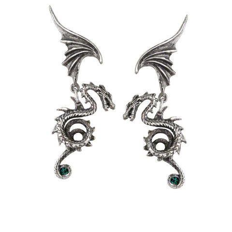 Regal Dragon Earrings by Alchemy Gothic