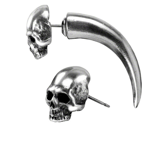 Tomb Skull Horn Earring by Alchemy Gothic