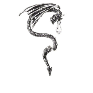Crystal Dragon Ear-Wrap by Alchemy Gothic