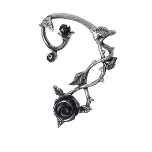 Black Rose Ear-Wrap by Alchemy Gothic