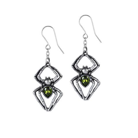 Emerald Venom Earrings by Alchemy Gothic