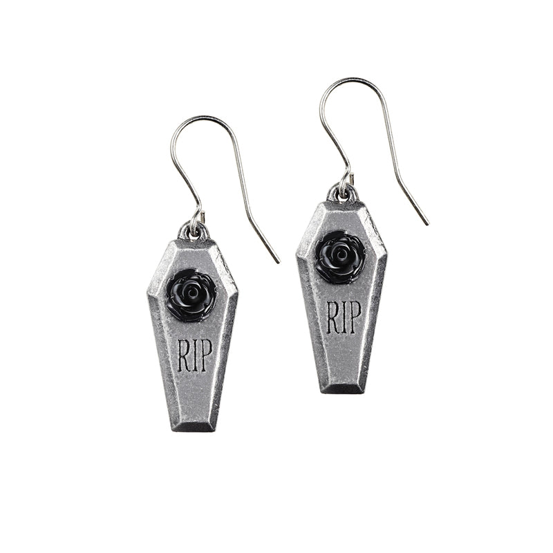 RIP Rose Earrings by Alchemy Gothic