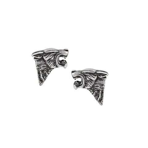 Dark Wolf Stud Earrings by Alchemy Gothic
