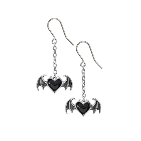 Black Soul Dropper Earrings by Alchemy Gothic