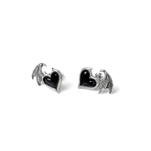 Black Soul Stud Earrings by Alchemy Gothic