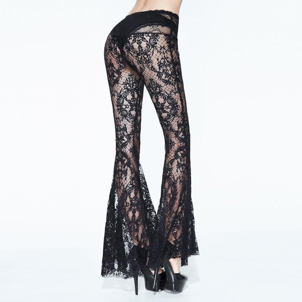 Luxury Lace Flared Pants by Eva Lady