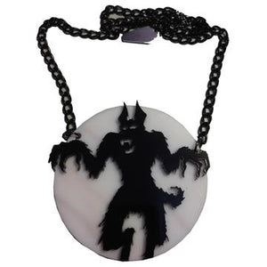 Howling At The Moon Acrylic Necklace by Kreepsville 666
