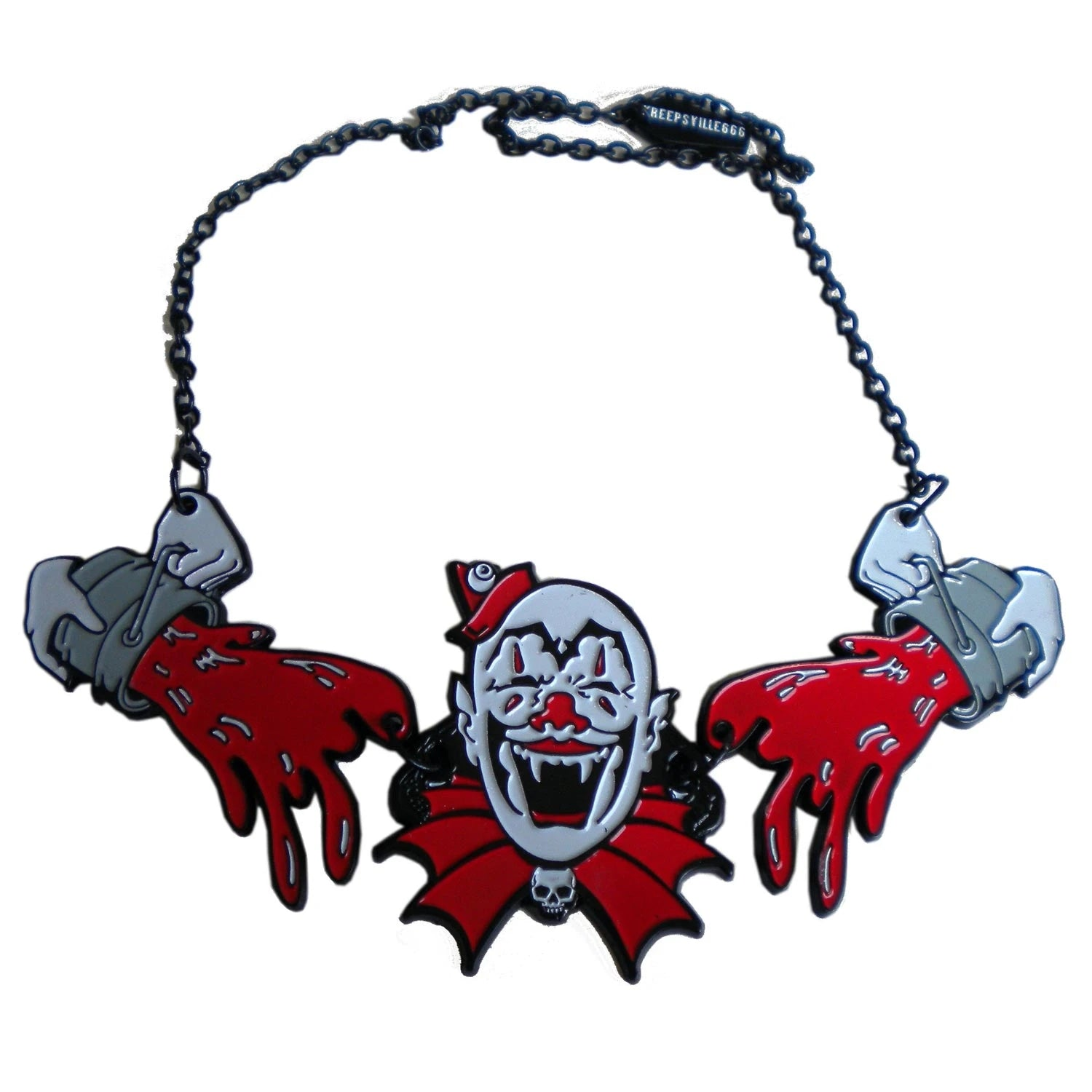 Creepy Clown Necklace by Kreepsville 666