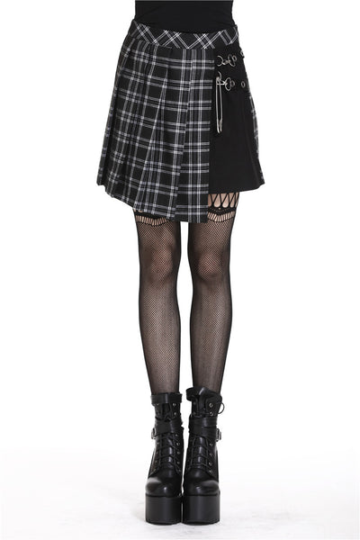 Punk Plaid Pleated Skirt by Dark In Love