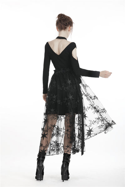 Starry Nights Transparent Skirt by Dark In Love