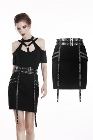Dungeon Eyelets Skirt by Dark In Love