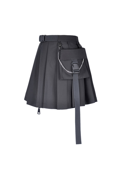 Punk Pleated Skirt by Dark In Love