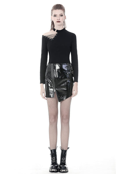 Nemesis PU Leather Skirt by Dark In Love