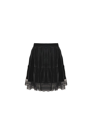 Black Widow Velvet Skirt by Dark In Love