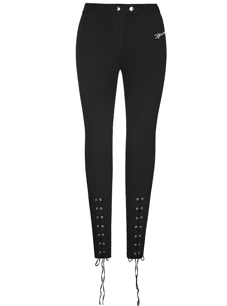 Lace Up Leggings by Punk Rave