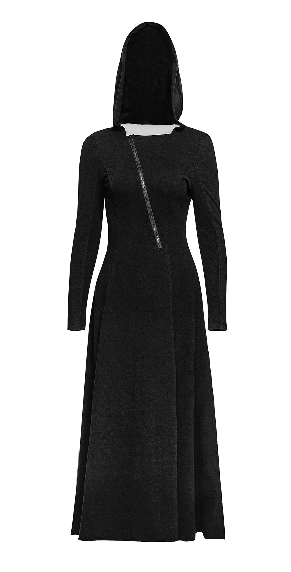 Punk Rave Black Sun Hooded Dress