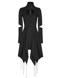 Twisted Heart Cut-Out High Neck Dress by Punk Rave