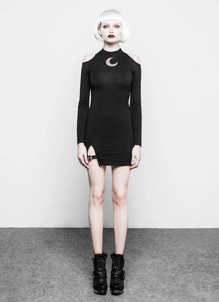 Hollow Moon Short Dress by Punk Rave