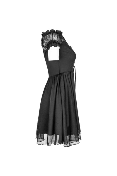 Punk Rave Gloomy Off Shoulder Dress
