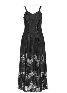 Punk Rave Dark Vintage Split Dress