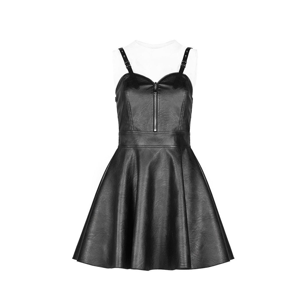 No Mercy PU Leather Dress by Punk Rave