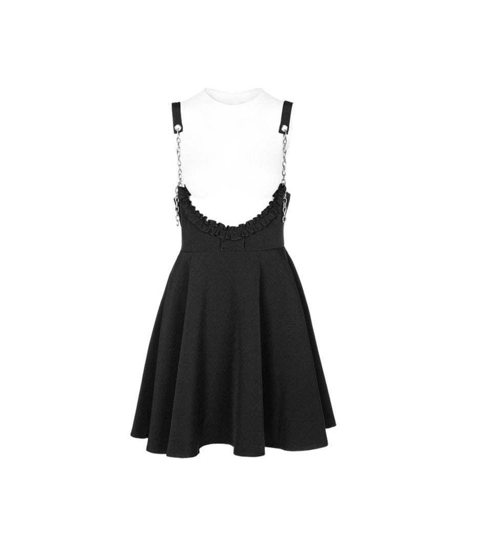 Dark Queen Overall Skater Skirt by Punk Rave
