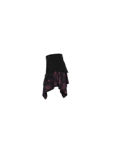 Crimson Skulls Skirt by Punk Rave