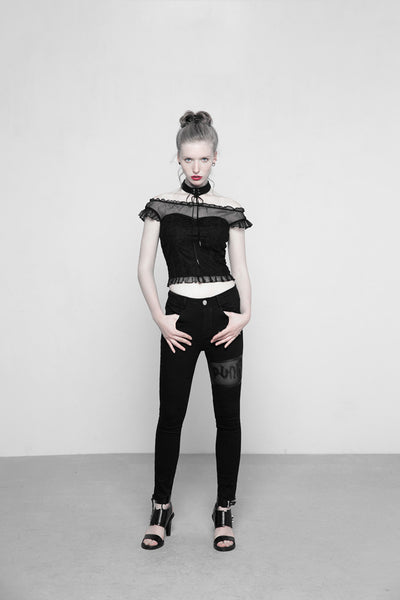 Dolly Ruffle Top by Punk Rave