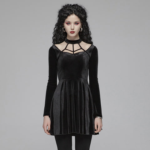 Velvet Web Dress by Punk Rave