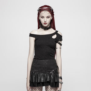 Dark Shuttle Off Shoulder Top by Punk Rave