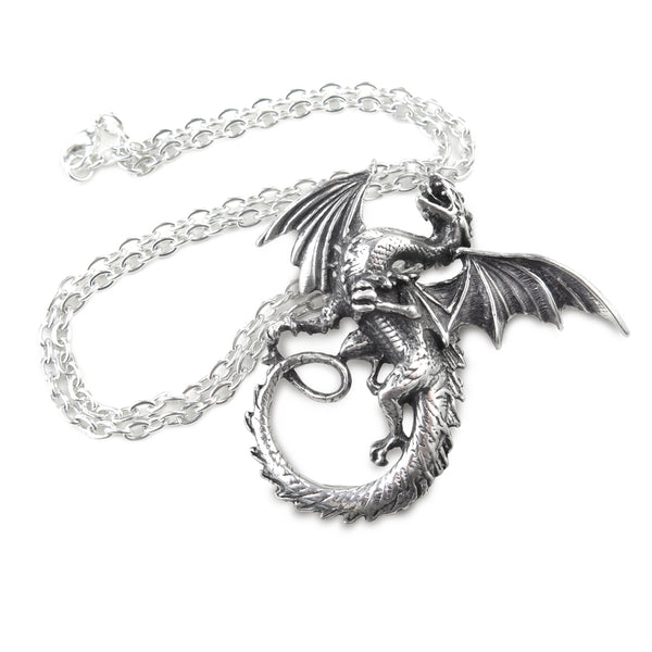 The Whitby Wyrm Pendant Necklace by Alchemy Gothic